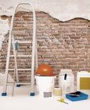 Outil pour réparer un appartement Préparation pour la réparation Image libre de droits
