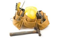 outil protecteur de suède de cuir de casque antichoc de courroie Images stock