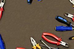 Outil se réunissant de meubles tordant la maquette basse de l'espace de copie d'angle de bâtiment de dégagement de scénographie d photographie stock libre de droits