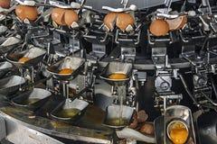 Outillage industriel pour les oeufs cassés 2 Image stock