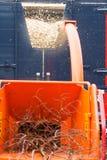 Outillage utilisé en sylviculture et landscap chipper et industriels en bois images stock