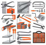 Outils à main d'â de graphismes de métier (placez 2) Images stock