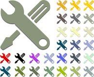 Outils à main de graphisme de clé et de tournevis Photo libre de droits