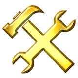 outils 3d d'or Photographie stock libre de droits