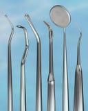 Outils 4 de dentiste Images libres de droits