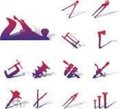 outils 90a réglés par graphismes illustration de vecteur