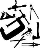 outils 90c réglés par graphismes illustration libre de droits
