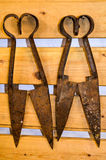 Outils antiques de ferme, Islande Photographie stock
