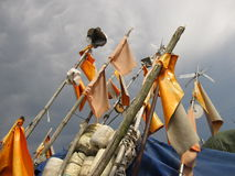 Outils antiques de pêche Images libres de droits