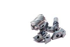 Outils cassés de tour en métal et outils de moulin Photographie stock libre de droits