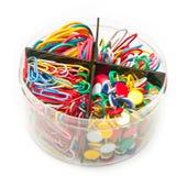 Outils colorés de bureau Photo stock