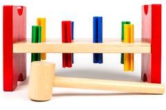 Outils colorés pour le jeune charpentier Photographie stock