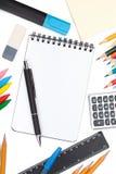 Outils d'école et de bureau Image stock