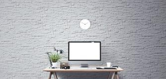 Outils d'affichage et de bureau d'ordinateur Écran d'ordinateur de bureau Photo libre de droits
