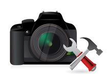Outils d'arrangement d'appareil-photo Images stock