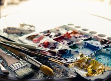 Outils d'art image stock