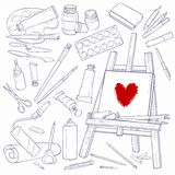 Outils d'art Images stock