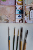 Outils d'art Photographie stock