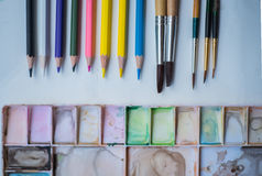 Outils d'art images libres de droits