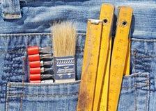 Outils dans la poche Image libre de droits