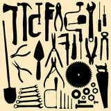Outils de ?arpentry Images libres de droits