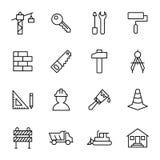 Outils de bâtiment, de construction, et à la maison de réparation Image libre de droits