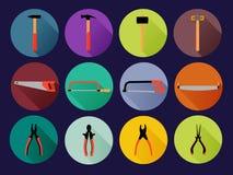 Outils de bricolage plats ronds Images stock