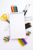 Outils de bureau et d'école Images stock