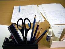 Outils de bureau sur l'appareil de bureau Photographie stock