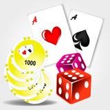 Outils de casino Photo stock