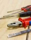 Outils de charpentier Image stock