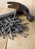 Outils de charpentier Photo stock