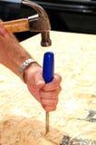 Outils de charpentier Photographie stock libre de droits