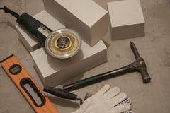 Outils de composition pour la construction et la réparation des bâtiments images libres de droits