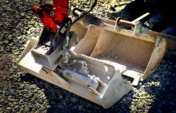 Outils de construction, seaux Image stock