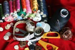 Outils de couture Photo stock