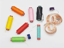 Outils de couture colorés Photo libre de droits