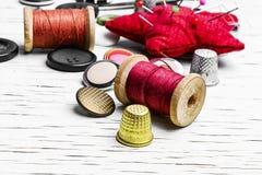 Outils de couture faits maison Photos libres de droits