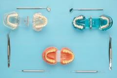 Outils de dentiste et orthodontique Photos libres de droits