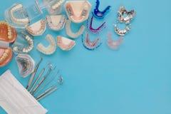 Outils de dentiste et orthodontique Image stock