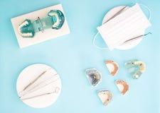 Outils de dentiste et prosthodontic Image libre de droits