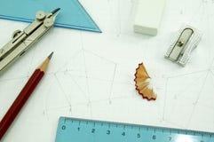 outils de dessin Photo stock