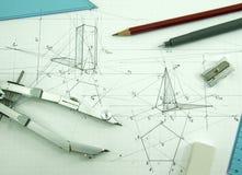 Outils de dessin Photo libre de droits