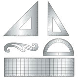 outils de dessin en métal de +EPS illustration libre de droits