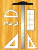 Outils de dessin sur le bureau (JPG+EPS) illustration libre de droits