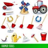 Outils de fermier Images libres de droits