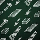 Outils de fond de craie Image libre de droits