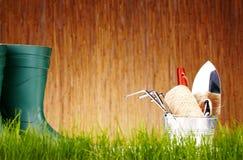 Outils de jardin d'automne Image stock