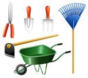 Outils de jardinage Photos stock