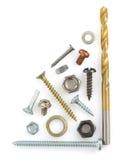 Outils de matériel sur le blanc Photo stock